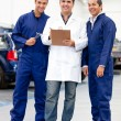 Group of mechanics — Stock Photo