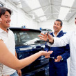 Taking car to the repair shop — Stock Photo