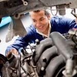 Fixing car mechanical problem — Stock Photo