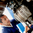 Mechanic fixing car — Stock Photo #9557683