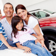 Royalty-Free Stock Photo: Family shopping for new car