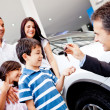 Stock Photo: New family car