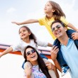 Family going on holidays - Stock Photo