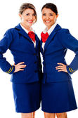 Beautiful air hostesses — Stock Photo