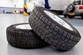 Car tires — Stockfoto
