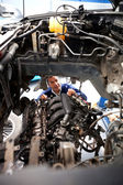 Car at the mechanic — Stock Photo