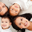 Family lying down — Stock Photo #9632721