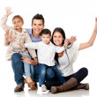 Happy family smiling — Stock Photo #9632724