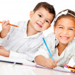 kids coloring — Stock Photo