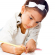 girl coloring — Stock Photo