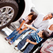 Family buying a car — Stock Photo #9632752