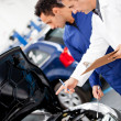 Car at the mechanic — Stock Photo
