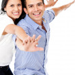 Couple with arms open — Foto de Stock