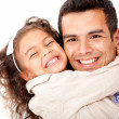 Stockfoto: Girl hugging her father
