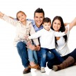 Happy family smiling — Stock Photo #9658024
