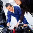 Womat mechanic — Stock Photo #9658059