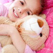 Girl with teddy bear — Stock Photo #9658072