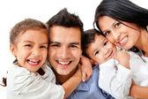 Mutlu aile portresi — Stok fotoğraf