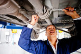 Car mechanic working — Stock Photo