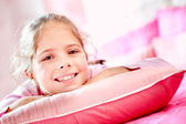Lovely girl in her room — Stock Photo