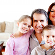 Stock Photo: Beautiful family at home