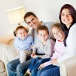 Beautiful family smiling — Stock Photo #9664823