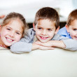 Stock Photo: Group of children smiling