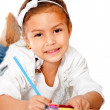 Stock Photo: Girl coloring