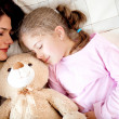 Girls bedtime — Stock Photo