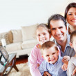 Family in the living room — Stock Photo