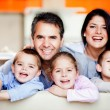 Stock Photo: Smiley family