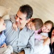 Beautiful family at home — Stock Photo #9677774