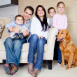 Family at home — Stock Photo #9677776