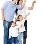指差し呼称の家族 — ストック写真