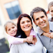 Stock Photo: Family smiling