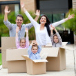 Family moving home — Stock Photo #9677817