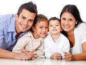 Prachtige familie portret — Stockfoto