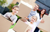 Family moving home — Stock Photo