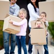 Family moving home — Stock Photo #9774124