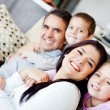 Foto Stock: Family at home