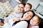Family at home — Foto de Stock