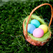Stock Photo: Plain Easter Eggs