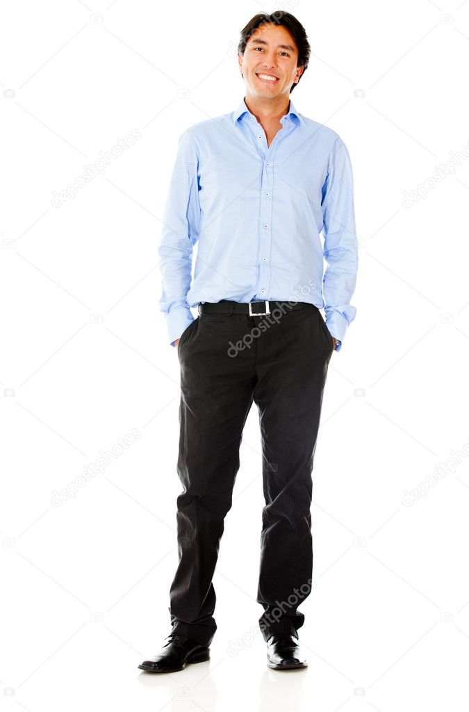 Casual business man - isolated over a white background  Stock Photo #9790353
