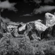 Yosemite Valley in Winter - Infrared Panorama - Foto de Stock