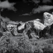 Yosemite Valley in Winter - Infrared Panorama - Stock fotografie