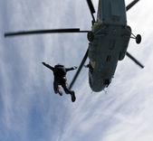 Parachutespringen foto — Stockfoto