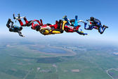 Skydiving photo — 图库照片