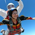 Skydiving photo. Tandem. — Stock Photo #9030664