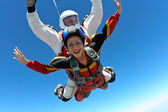 Skydiving photo. Tandem. — 图库照片