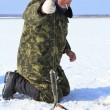 Ice fishing — Stock Photo #9463907